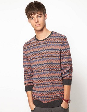 Image 1 ofASOS Lightweight Fairisle Jumper