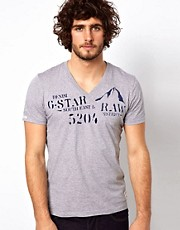 G Star T-Shirt Fairane V-Neck Chest Logo