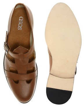 Image 3 ofASOS Monk Strap Cut Out Shoes