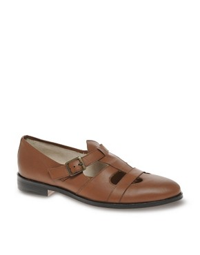 Image 1 ofASOS Monk Strap Cut Out Shoes
