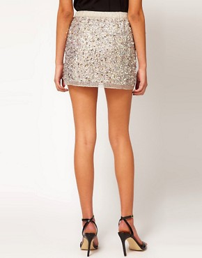 Image 2 ofASOS Mini Skirt in Multi Sequins