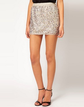 Image 4 ofASOS Mini Skirt in Multi Sequins