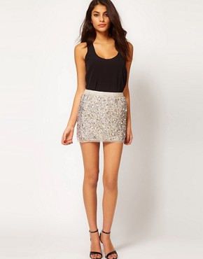 Image 1 ofASOS Mini Skirt in Multi Sequins