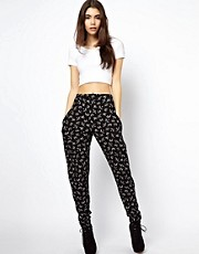 ASOS Peg Pants in Swooping Bird Print