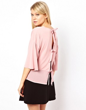 Image 1 ofASOS Top with Woven Back Tie