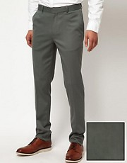 ASOS Skinny Fit Suit Trousers in Wool Blend