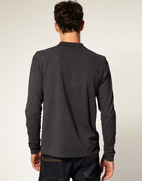 Image 2 ofASOS Polo Shirt With Long Sleeves