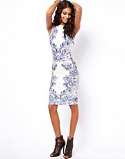 ASOS Body-Conscious Dress In Tattoo Print