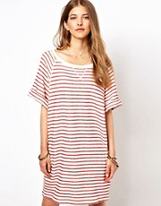 Ganni Striped Sweater Dress with Pockets