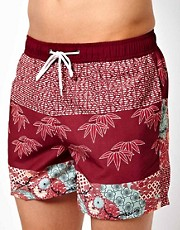 Bellfield Tri Pattern Swim Shorts