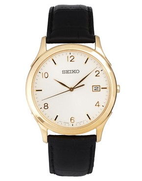 Image 1 ofSeiko Leather Strap Watch SGEE10P1