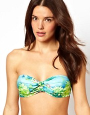ASOS Hawaii Print Bow Bandeau Bikini Top