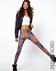 ASOS PETITE Exclusive Leggings In Monarch Print