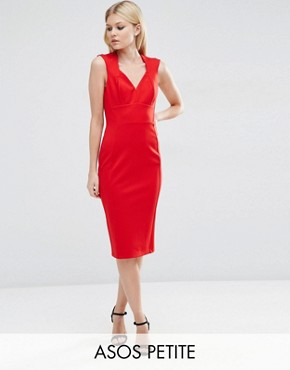 ASOS PETITE Contour Pencil Dress in Ponte