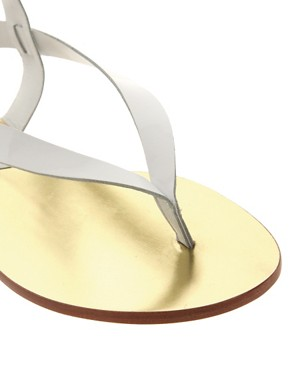 Image 2 of Michael Kors Scorpian Leather Flat Sandal
