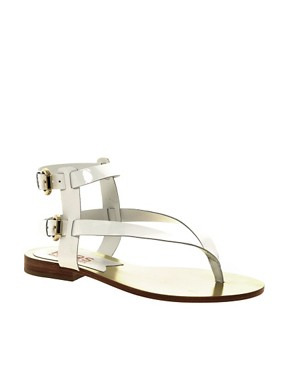 Image 1 of Michael Kors Scorpian Leather Flat Sandal