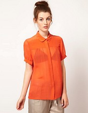 French Connection Spring Short Sleeve Blouse