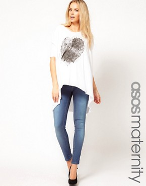 Image 1 ofASOS Maternity Skinny Jean In Supersoft Fabric With Stretch Waistband