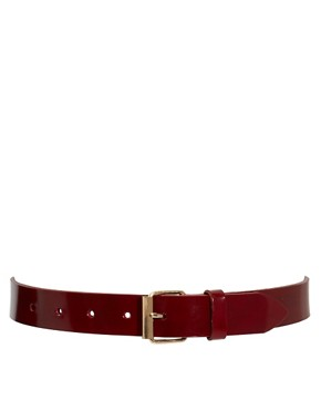 Image 1 ofBlack &amp; Brown Kelly Patent Leather Jean Belt