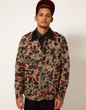 Image 1 ofAdidas Originals Camo Safari Jacket