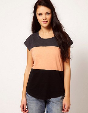 Image 1 ofRiver Island Colour Block T-Shirt