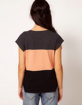 Image 2 ofRiver Island Colour Block T-Shirt