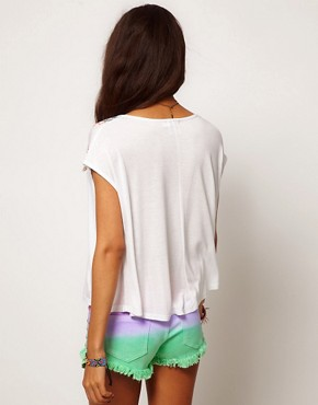 Image 2 ofASOS PETITE Exclusive Swing Tee With Rocco Print