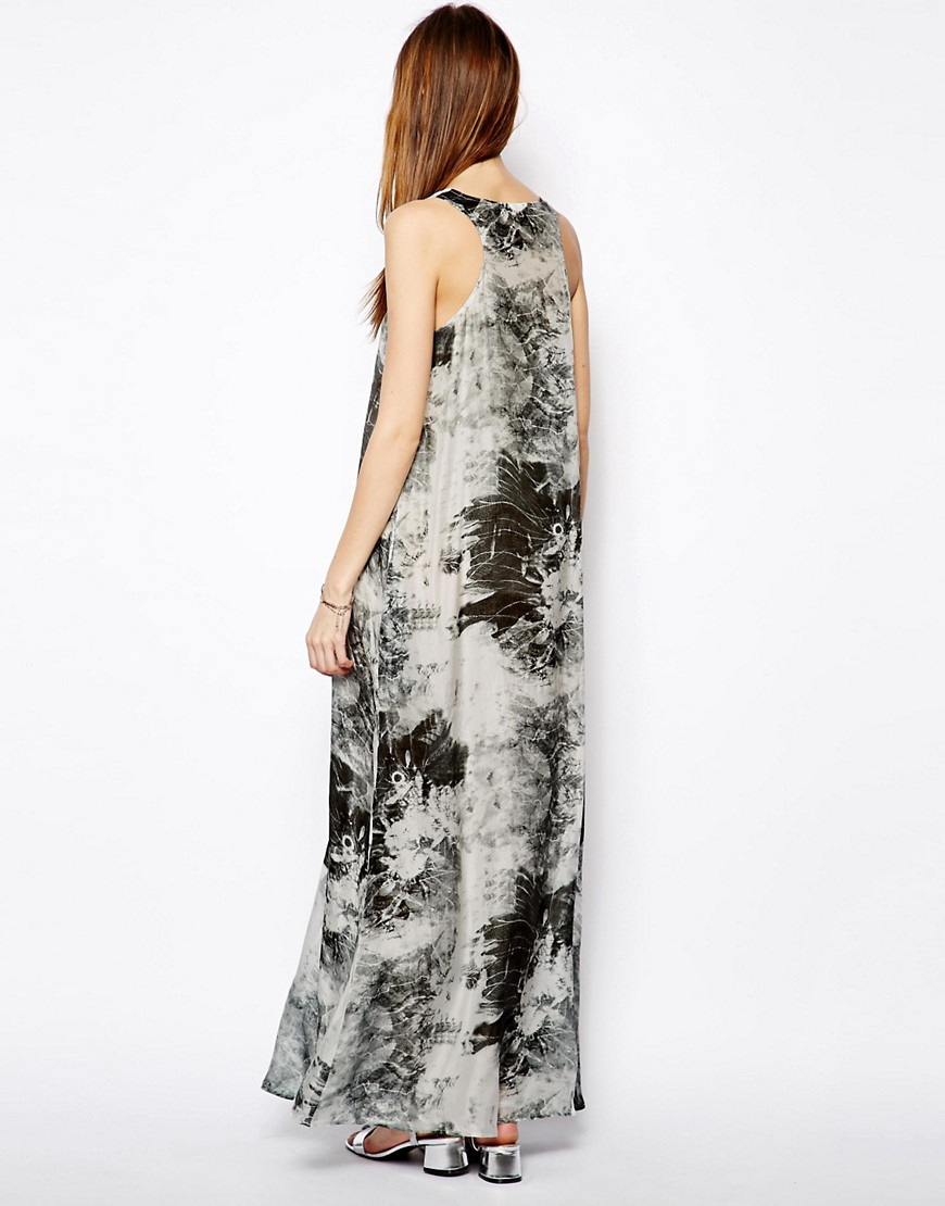 Image 2 of Denham Silk Printed Maxi Dress