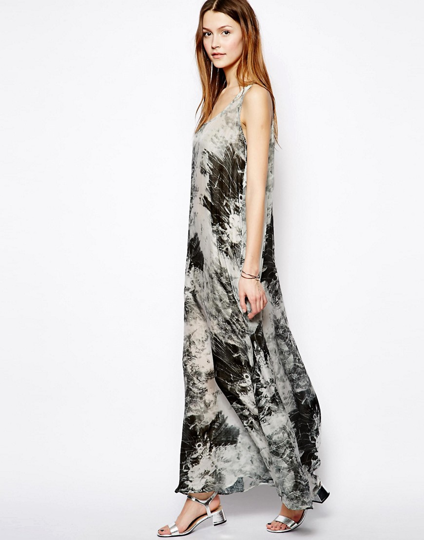 Image 4 of Denham Silk Printed Maxi Dress