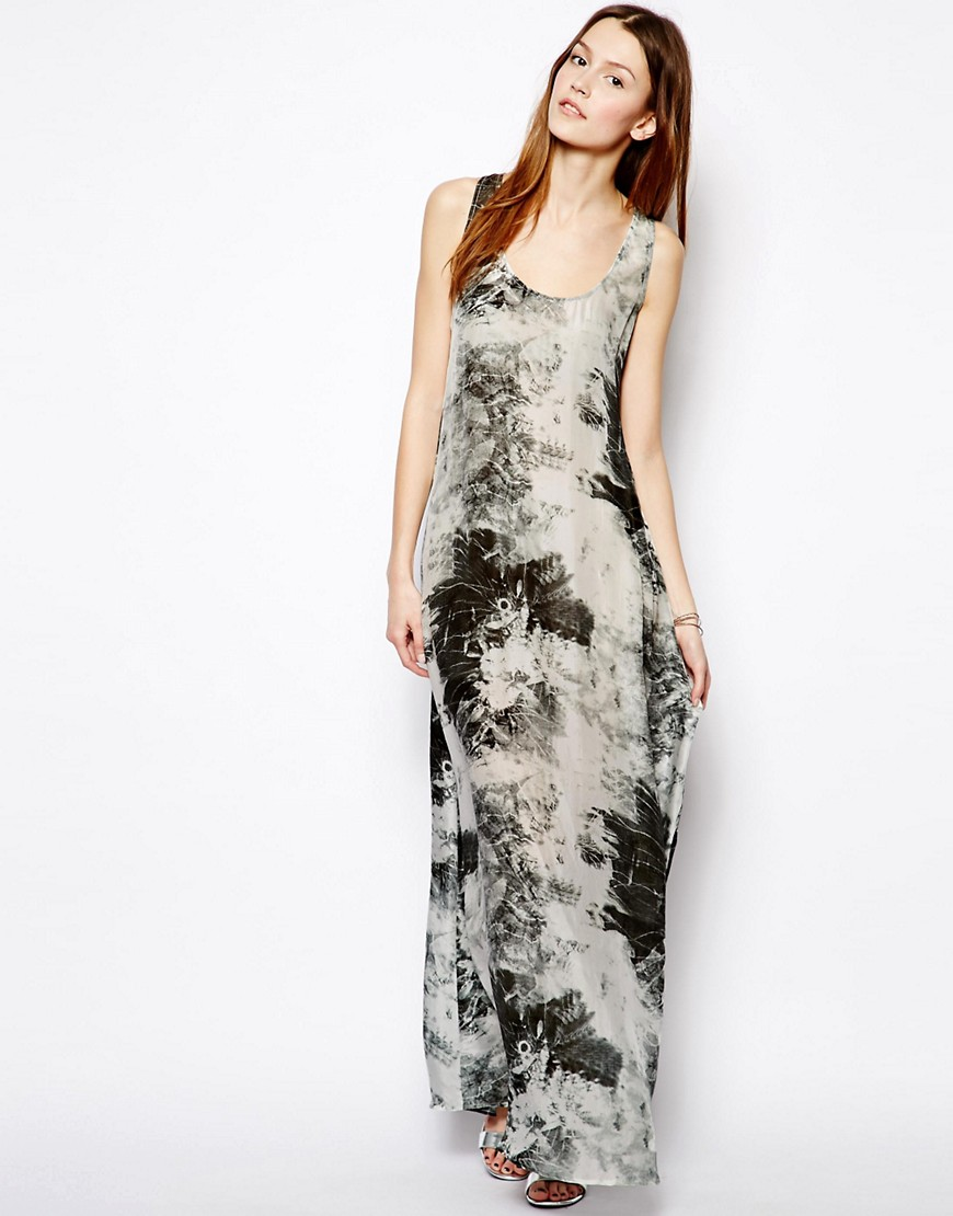 Image 1 of Denham Silk Printed Maxi Dress