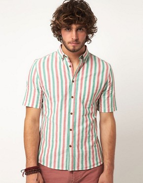 Image 1 ofASOS Stripe Oxford Shirt