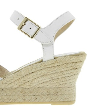 Image 3 ofASOS HIGHLIFE Leather Pointed Espadrille Wedges