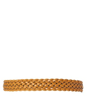 Image 2 ofASOS Mustard Plait Belt