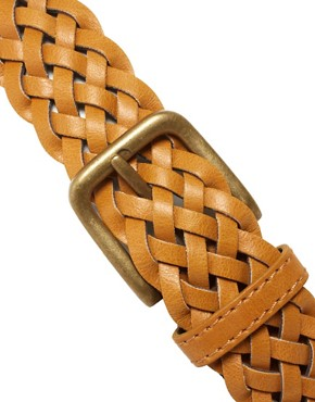 Image 4 ofASOS Mustard Plait Belt