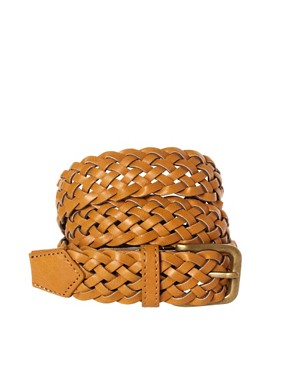 Image 1 ofASOS Mustard Plait Belt