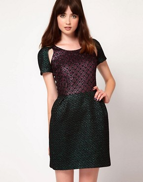 Image 1 ofMarkus Lupfer Brocade Mini Dress
