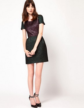Image 4 ofMarkus Lupfer Brocade Mini Dress