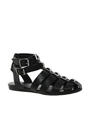 ASOS &ndash; FUSE &ndash; Flache Rmersandalen