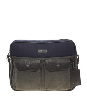 Image 1 ofTed Baker Coated Canvas Messenger Bag