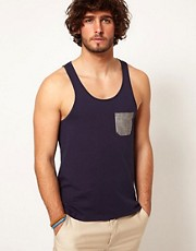 ASOS Tank With Oxford Pocket