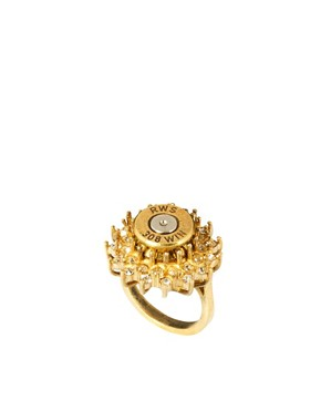 Image 1 ofLove Bullets Diamante Flower Ring