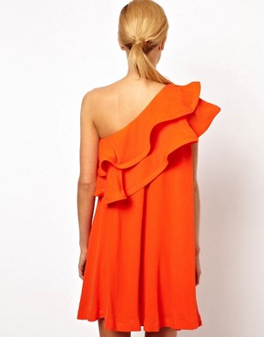 Image 2 ofASOS Sundress Dress With Extreme One Shoulder Frill