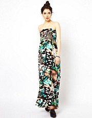 Oh My Love Snake Print Maxi Dress