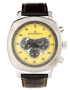 Image 1 ofKennett Challenger Croco Leather Strap Watch