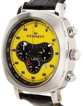 Image 4 ofKennett Challenger Croco Leather Strap Watch