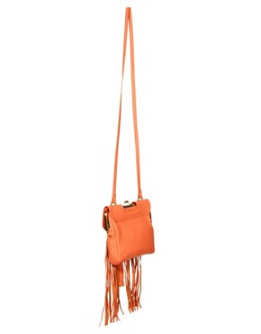 Image 2 ofRiver Island Fringe Leather Bag
