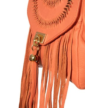 Image 4 ofRiver Island Fringe Leather Bag