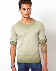United Colors Of Benetton Long Sleeve Top With Overdye