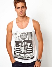 River Island Tank with California Print