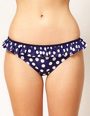 ASOS Spot Skirted Bikini Pant